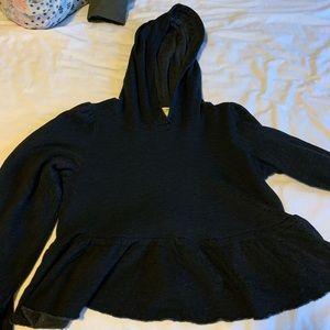 Black UO ruffle hoodie!